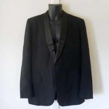 Mens Tuxedo Jacket Black Tuxedo Jacket Mens Dinner Jacket 80s Tuxedo Jacket Tuxedo Blazer Black Suit Jacket Mens Black Blazer Wedding Jacket