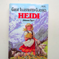 Vintage Heidi Great Illustrated Classics Book by WylieOwlVintage