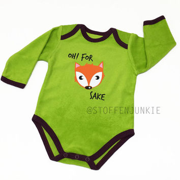 Fall Kids and Baby, Woodland Fox, Fun Bodysuit, For Fox Sake, Baby Clothes, Winter Baby, Arrival Bodysuit, Baby Shower Gift new Parents