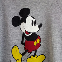 MICKEY MOUSE SWEATSHIRT / grey mickey sweatshirt / gray disney jumper / walt disney pullover / unisex adult / small medium
