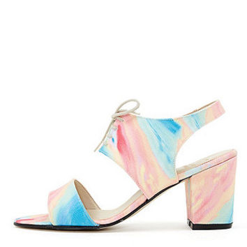 Canvas Cleo Cut Out Heel