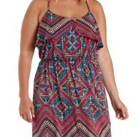 Plus Size Multi Printed Tulip Flounce Dress by Charlotte Russe