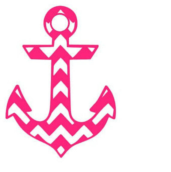 Chevron Anchor Window Car Decal From Whitneysmonograms On Etsy