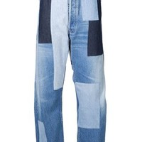 Off-white Wide-leg Patchwork Jeans - Antonioli Ibiza - Farfetch.com