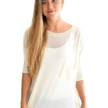 Coffee House Sweater In Ivory