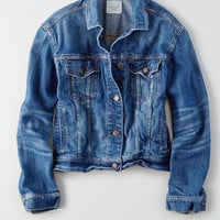 AEO Classic Denim Jacket, Blue