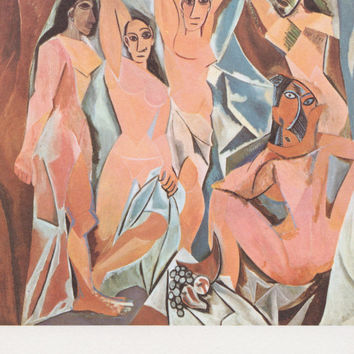 "Vintage French Postcard -- Pablo Picasso ""The Ladies of Avignon"" -- 1980?"