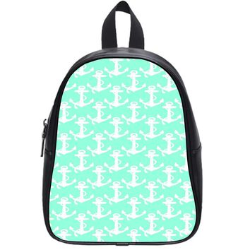 Anchor Green Mint School Backpack Large
