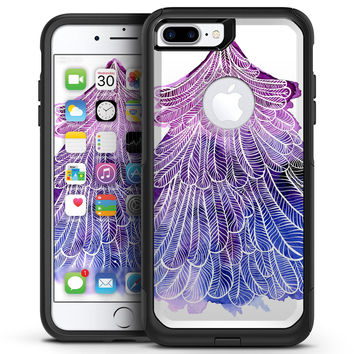 Stenciled Watercolor Evergreen Tree - iPhone 7 or 7 Plus Commuter Case Skin Kit