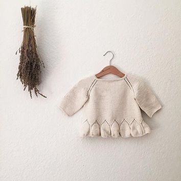 Winter Fall Baby Girl Sweater Jumper Knitwear Solid Color Long-Sleeve Pullover for Girls Kids Toddler Sweater Children's Clothes