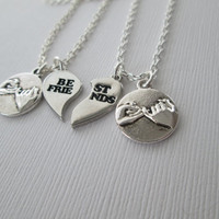2 Best Friends Pinky Promise Necklaces