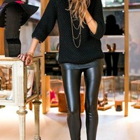 Fashion Faux Leather Leggings