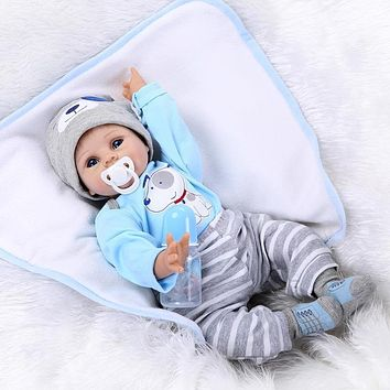 Reborn Baby Doll Gentle Touch Cute Soft Silicone Lifelike Pretend Play Newborn Doll Toys Children Birthday Gift Simulation Doll