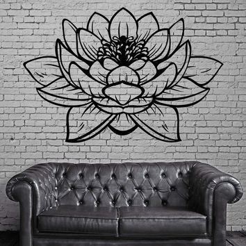 Lotus Flower Buddha Yoga Studio Meditation Vinyl Decal z2906