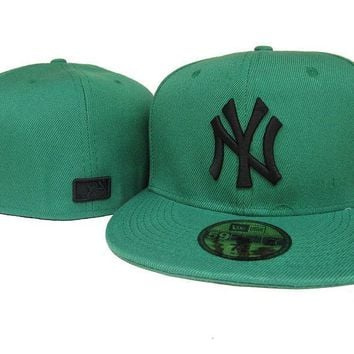 qiyif New York Yankees New Era MLB Authentic Collection 59FIFTY Cap Green-Black