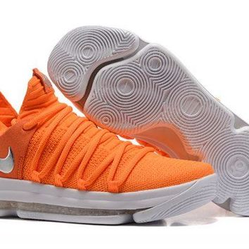 Nike KD 10 Orange White For Sale