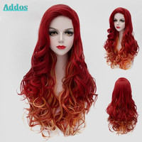 Synthetic Color Ombre Rainbow Wig Cosplay For Costume Party, Long Curly Wig Lolita For Women