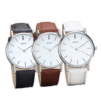 Latest  Womens Retro Design Leather Band Analog Alloy Quartz Wrist Watch = 1956399364