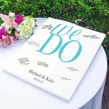 Personalized Vows Gallery Wrapped Canvas Guest Book