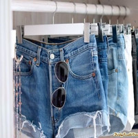 High Waisted Denim Shorts Cut Off 80's 90'S Style like a Rock Star!! Pick Your Size