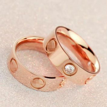 ICIKN6 Cute couple rings women ring
