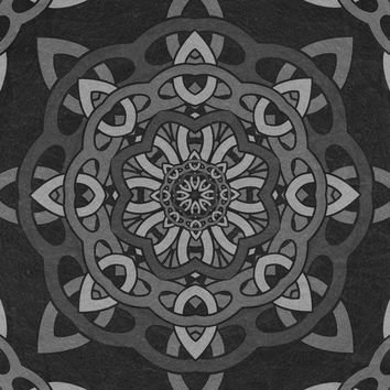 Greythorn Pattern Art Print by Likelikes
