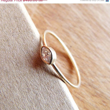 SPRING SALE Marquise Diamond Engagement Ring - Diamond Gold Ring - 18k Solid Gold