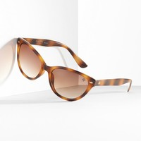 Simply Vera Vera Wang Small Cat's-Eye Sunglasses - Women (Brown)
