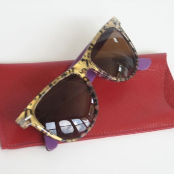 Leather Small Sunglasses Case