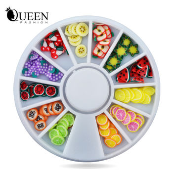 DIY Nail Art Wheel Decoration Fruit Slices 3d Polymer Clay Tiny Fimo Nail Beauty Design Manicure Tools