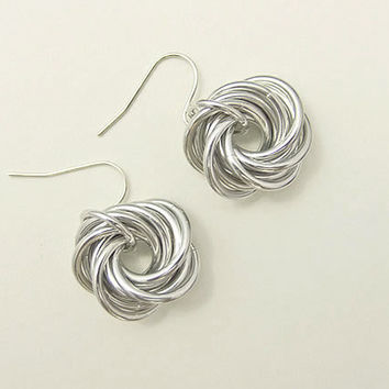 Love Knot Chainmaille Earrings Mother's Day Gift by JeannieRichard