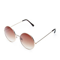 Gradated Round Sunglasses