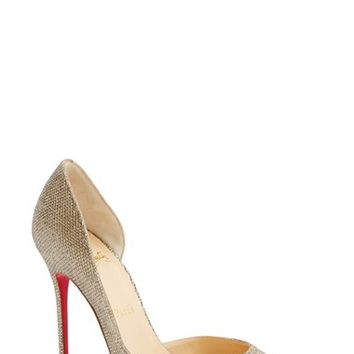 christian louboutin perforated pointed-toe pumps