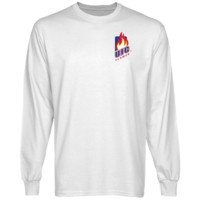 UIC Flames White Chest Hit Logo Long Sleeve T-shirt