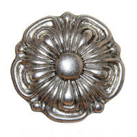 Elysium Rose Belt Buckle - Antique Silver