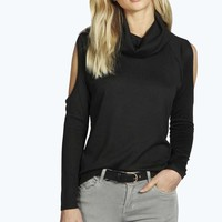 Caitlin Cowl Neck Open Shoulder Jumper