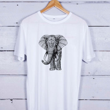 elephant sketch Tshirt T-shirt Tees Tee Men Women Unisex Adults