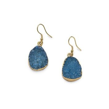 Druzy Drop Earrings Fair Trade