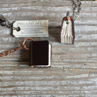 Book Necklace: Chocolate Bit of Sofa