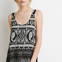 Fringed Paisley Top