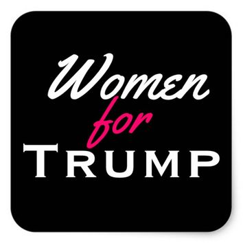 WOMEN FOR TRUMP GLOSSY STICKER