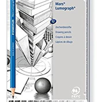 Staedtler Pencil Mars Lumograph, 12 Pieces Set (100 G12)