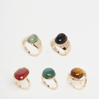 ASOS 70s Traveller Ring Pack