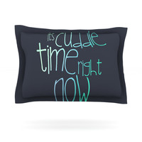 "Monika Strigel ""Cuddle Time Mint"" Pillow Sham"