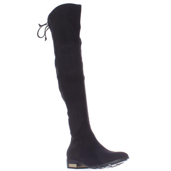 GUESS Zafira Over The Knee Bow Tie Boots - Black