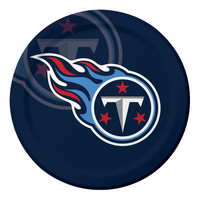 NFL 9 inch Dinner Plates Tennessee Titans/Case of 96