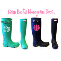 Monogram Car Decal Monogrammed Vinyl 3 inches you choose font and color
