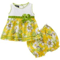 So La Vita Baby-girls Newborn Knit Yoke Flower Woven Skirt $17.99