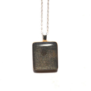 Black onyx square pendant necklace wood necklace earth day eco friendly bridesmaid jewelry fall jewelry starlightwoods