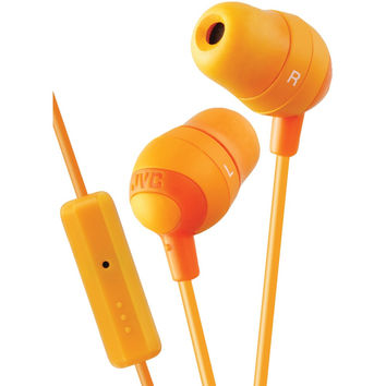 Jvc Marshmallow Inner-ear Earbuds With Microphone & Remote (orange)